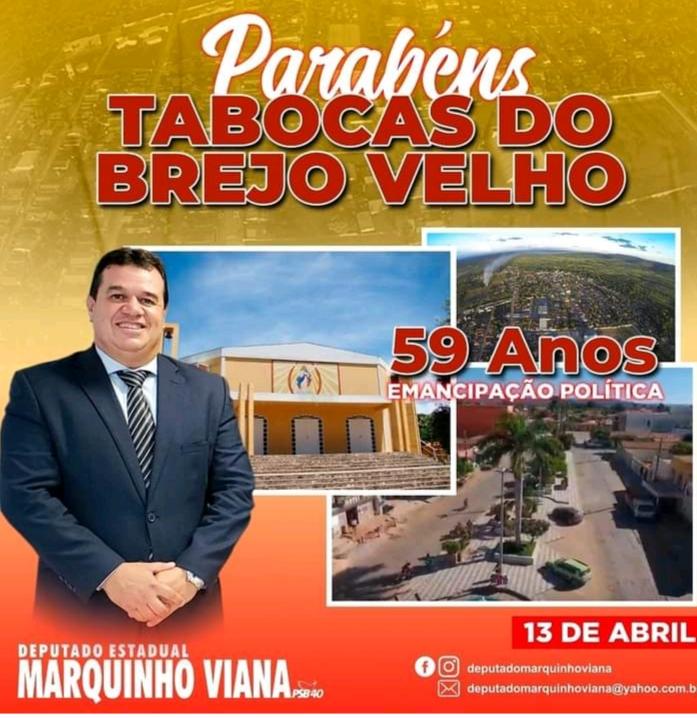 Deputado Marquinho Viana parabeniza Tabocas do Brejo Velho