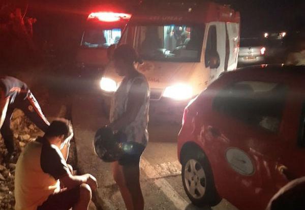 Rio de Contas: família fica ferida após veículo no qual estava cair em ribanceira na Serra das Almas