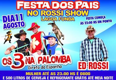 FESTA DOS PAIS COM ED ROSSI NO ROSSI SHOW