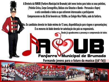 FANFARRA MUNICIPAL DE BRUMADO ABRE VAGAS