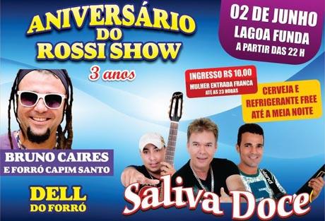 ANIVERSÁRIO DE 3 ANOS DO ROSSI SHOW