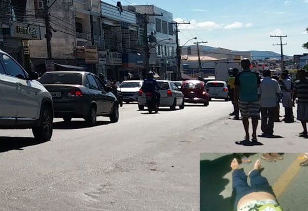Brumado: idosa morre após ser atropelada por moto no centro da cidade