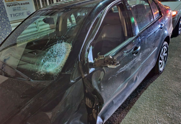 Livramento: Duas pessoas ficam feridas em colisão moto e carro
