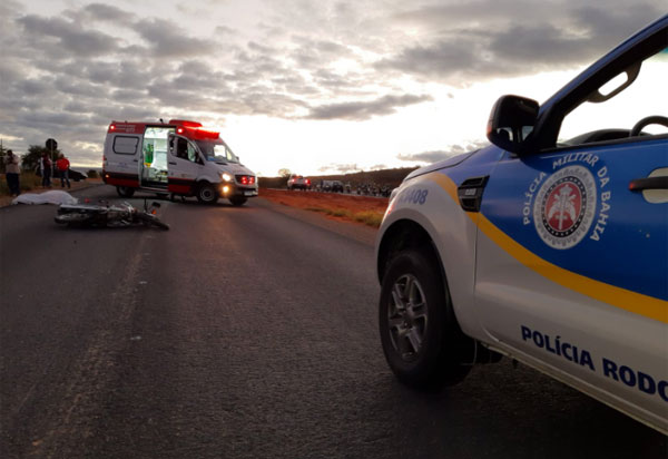 Brumado: Motociclista morre em acidente na rotatória do Bairro Esconso