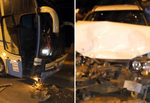 Paramirim: Homem morre em acidente de carro com ônibus da Novo Horizonte