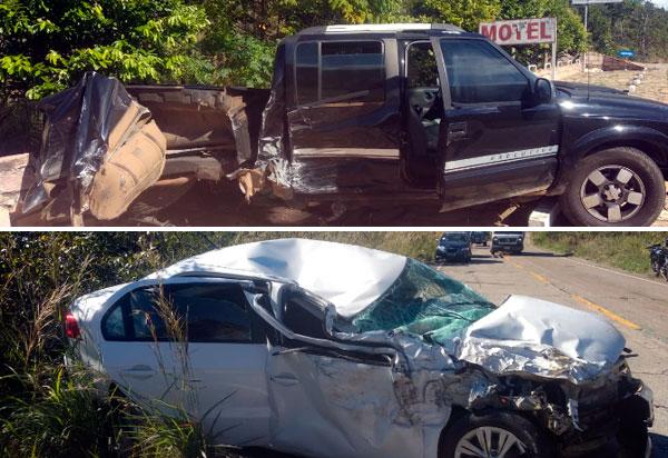 Rio de Contas: Veículos colidiram na BA-148, trecho da Serra das Almas