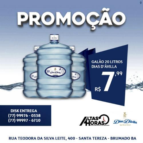 Altas Horas está com promoção em água mineral