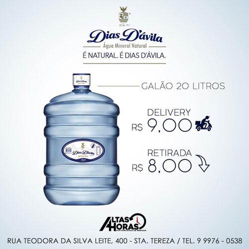 Altas Horas distribuidora: Disk Entrega água mineral