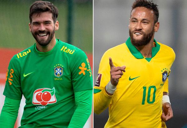 Alisson e Neymar são indicados ao The Best FIFA Awards 2020