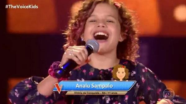 Conquistense Analu Sampaio participa do The Voice Kids e passa na primeira audição