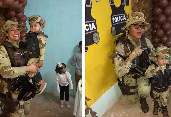 Menino de 3 anos ganha festa de aniversário com o tema Caesg em Vitória da Conquista