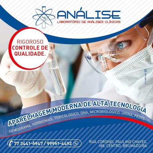 Brumado: faça exames laboratoriais no Laboratório Análise