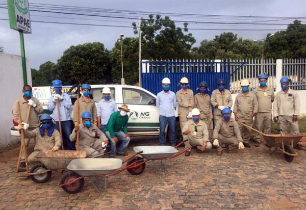 Brumado: equipe da Mg Óxidos Mineração realiza multirão de limpeza na Apae