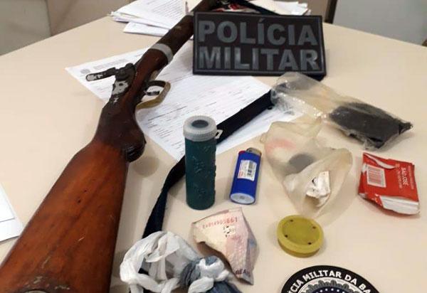 Menor de idade é apreendido em Érico Cardoso acusado de furto e posse ilegal de arma de fogo