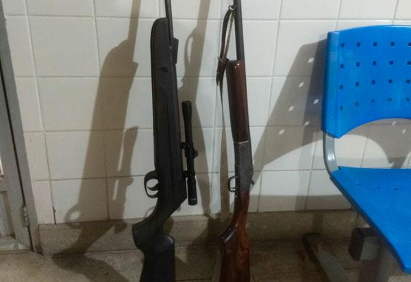 Homem é detido na zona rural de Aracatu acusado de porte ilegal de arma de fogo