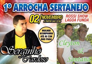 Brumado: Neste sábado tem Arrocha Sertanejo no Rossi Show