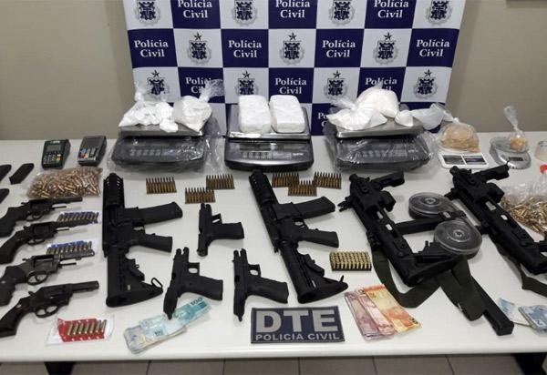 Conquista: DTE apreende arsenal de guerra pertencente à facção criminosa