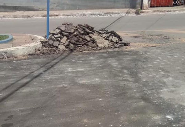 Barra da Estiva: Prefeitura realiza mais uma operação tapa buracos no asfalto do centro da cidade