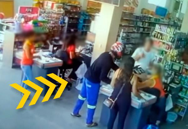 Brumado: assaltante rouba quantia não divulgada de supermercado no centro da cidade