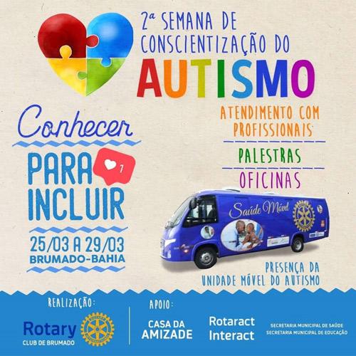 2° Semana de Conscientização do Autismo começa hoje (25) em Brumado; confira a programação