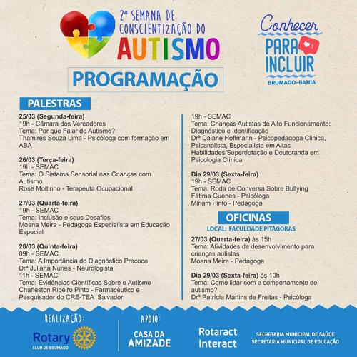 2° Semana de Conscientização do Autismo será realizada em Brumado; confira a programação