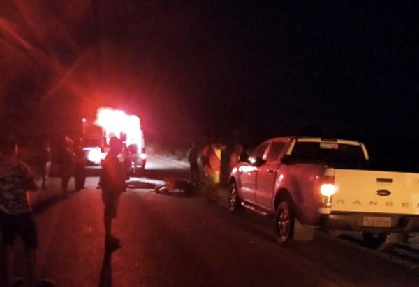 Motociclista morre após colidir moto contra cavalo na BA-148
