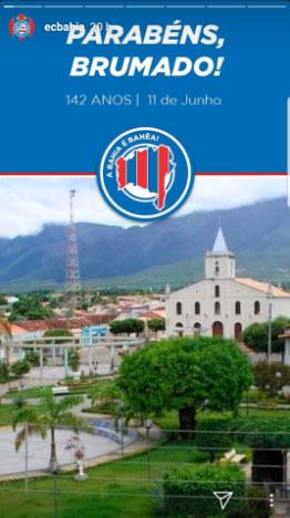 Esporte Clube Bahia comete erro ao colocar foto de Livramento para homenagear aniversário de Brumado