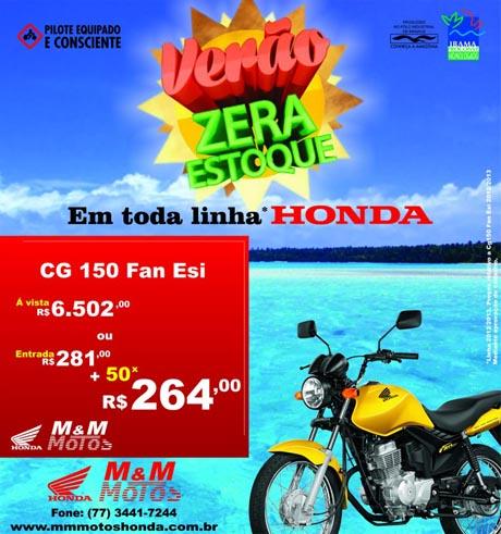 VERÃO ZERA ESTOQUE M & M MOTOS HONDA
