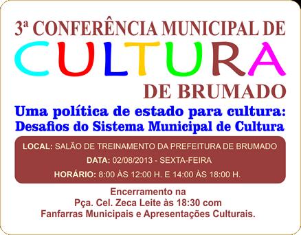 3ª Conferência Municipal de Cultura de Brumado