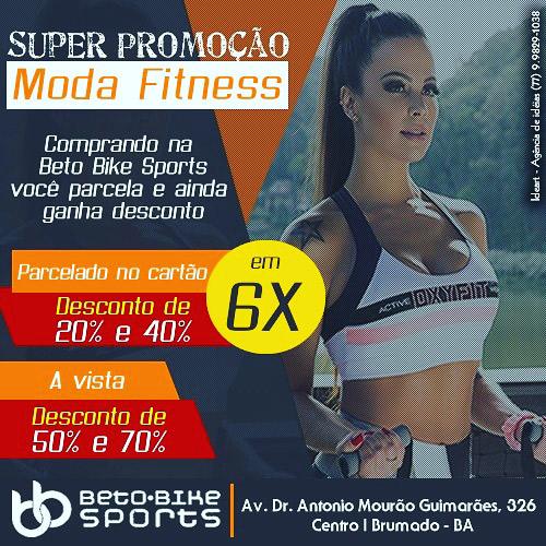 5c9051eac Beto Bike Sports lança super promoção em moda fitness - Agora Sudoeste