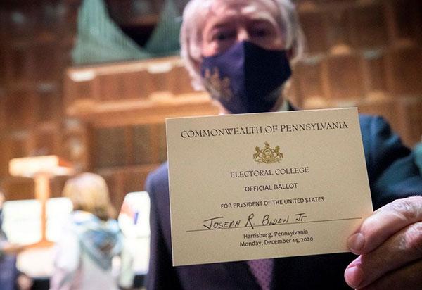 Colégio Eleitoral confirma vitória de Biden nos EUA