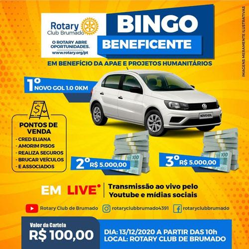 Rotary Club de Brumado promoverá Bingo Beneficente em prol da Apae e projetos humanitários