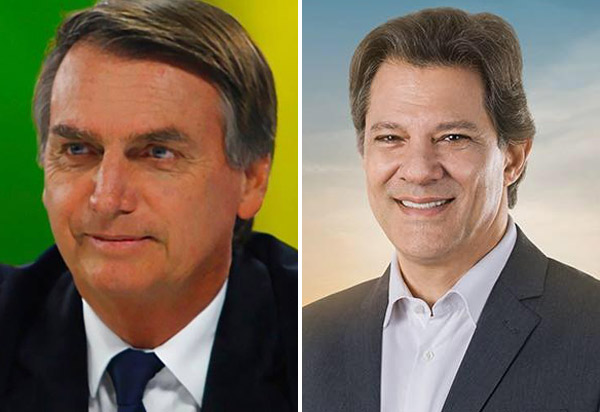 Eleições 2° turno: Bolsonaro tem 54% dos votos válidos Haddad, 46%