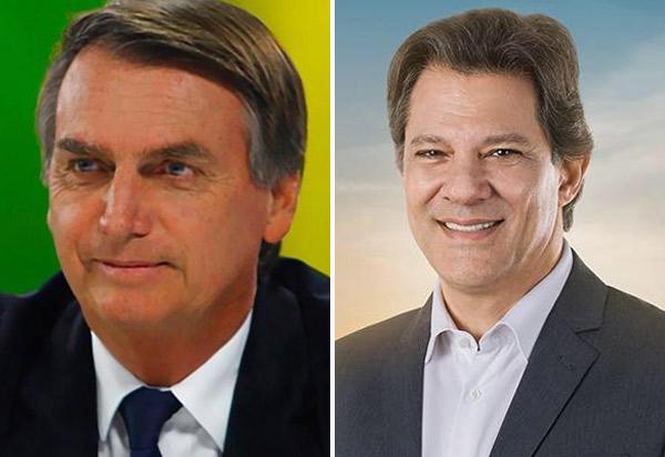 Pesquisa Ibope: Bolsonaro aparece com 59% dos votos válidos, Haddad 41%