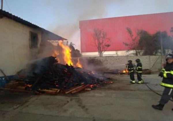 Vitória da Conquista: incêndio atingiu empresa de produção de café
