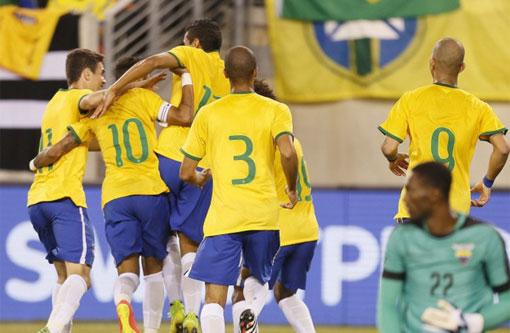 Em amistoso, Brasil vence Equador por 1 a 0