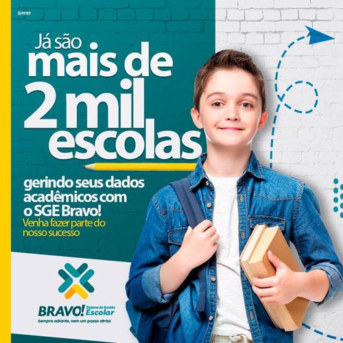 SGE Bravo está presente em mais de 2 mil escolas