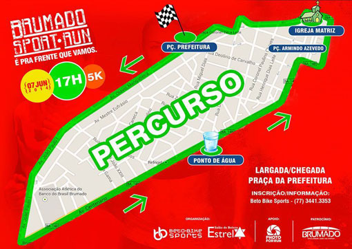 Neste sábado (07) acontece a corrida Brumado Sport Run; faça sua inscrição