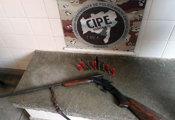 Caesg apreende arma e munições na zona rural de Aracatu