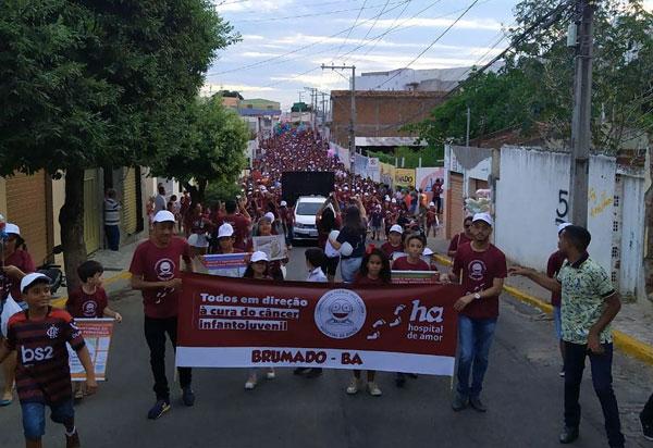 Brumado: Caminhada Passos que Salvam arrecadou mais de 80 mil reais para o Hospital de Câncer Infantojuvenil de Barretos