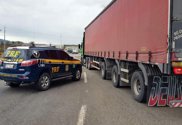 Caminhão adulterado é apreendido pela PRF no sudeste baiano