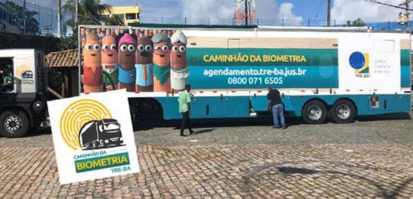 Caminhão da biometria faz atendimento itinerante em Tanque Novo