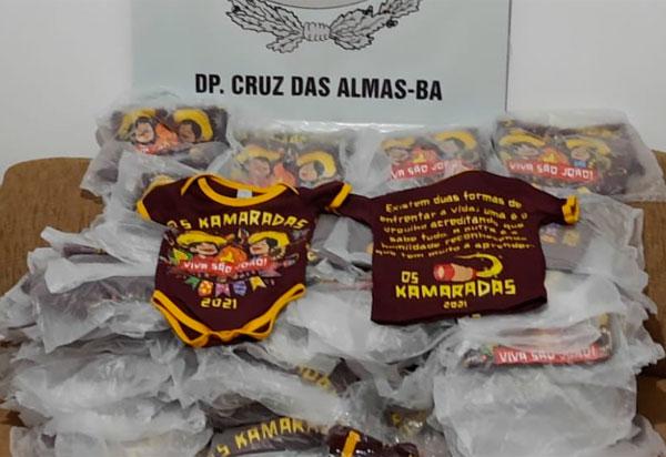 São João: Polícia apreende camisas de festa marcada em Cruz das Almas
