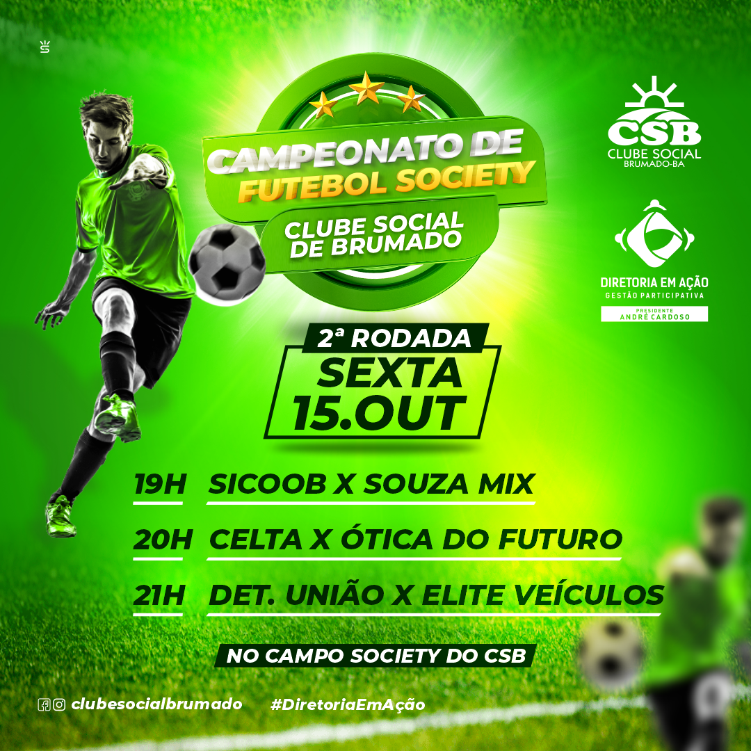 Nesta sexta (15) tem 2ª rodada do Campeonato de Futebol Society CSB