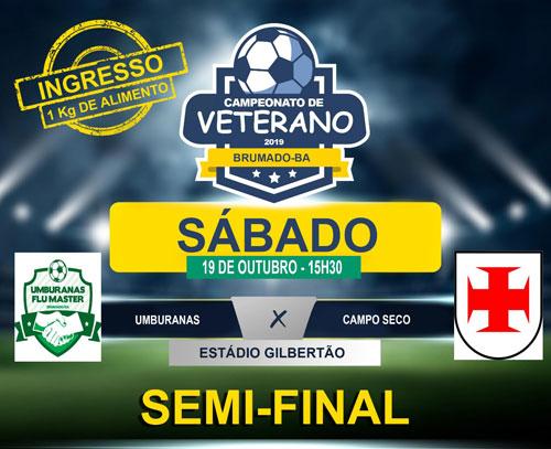 Neste sábado (19) tem a 1ª semifinal 1º Campeonato de Futebol Veterano de Brumado