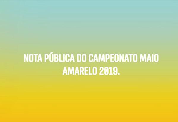 Brumado: SMTT adia para setembro o 'Campeonato Maio Amarelo 2019'
