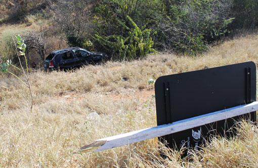 Brumado: Carro capota na BR-030 e deixa cinco feridos