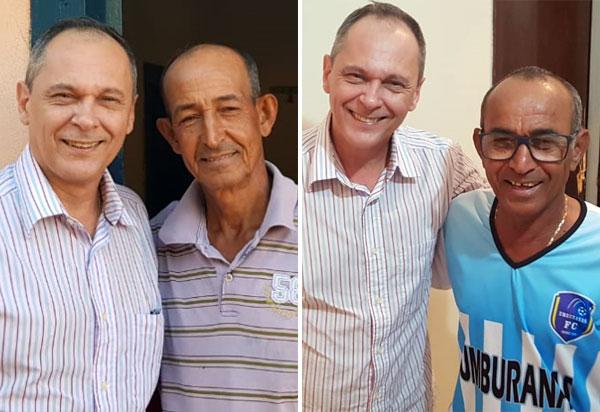 Carlinhos Moura recebe o apoio do ex-vereador Evaldinho Pereira 'o Dino' e seu irmão, Elzídio Pereira 'o Pretinho'