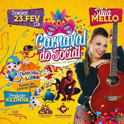 Clube Social de Brumado: neste domingo (23) tem 'Carnaval do Social'
