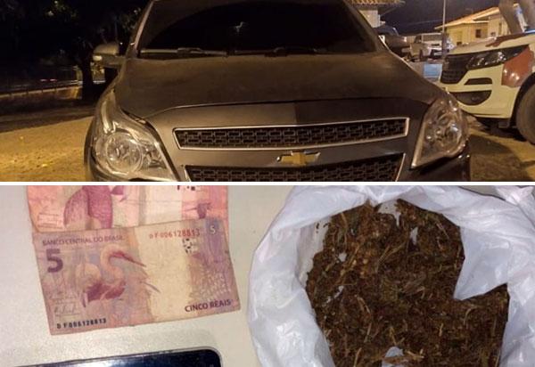 Homem é detido em Ibiassucê acusado de tráfico de drogas e adulteração de veículo